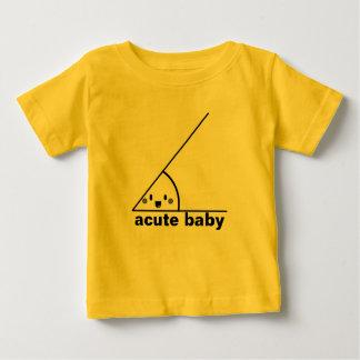 Camiseta Para Bebê Ângulo agudo engraçado geeky