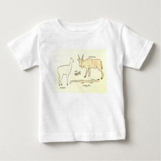 Camiseta Para Bebê Animais que começam com a letra A