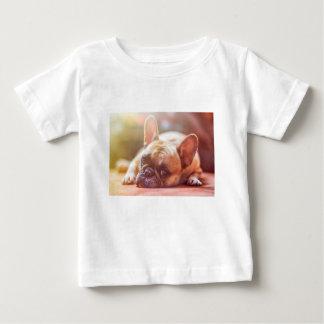 Camiseta Para Bebê Animal de estimação do buldogue francês