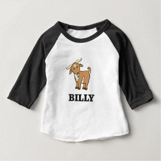 Camiseta Para Bebê animal de fazenda da cabra de billy