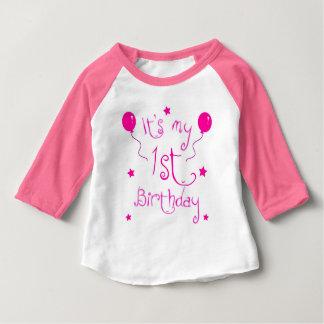 Camiseta Para Bebê Aniversário