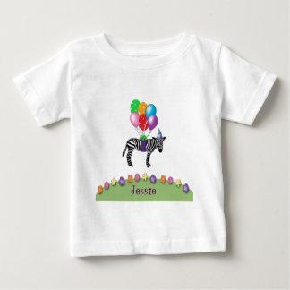 Camiseta Para Bebê aniversário da zebra