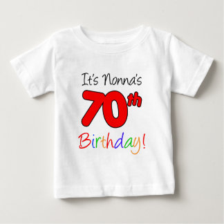 Camiseta Para Bebê Aniversário do 70 de Nonna