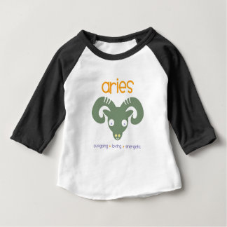 Camiseta Para Bebê Aniversário do Aries