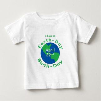 Camiseta Para Bebê Aniversário do Dia da Terra