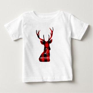 Camiseta Para Bebê Aniversário dos Antlers da cabeça do veado
