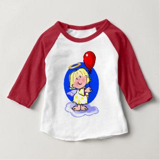 Camiseta Para Bebê Anjo bonito e balão vermelho