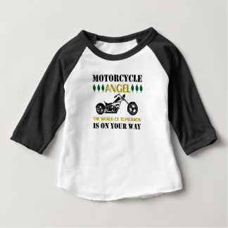 Camiseta Para Bebê Anjo da motocicleta