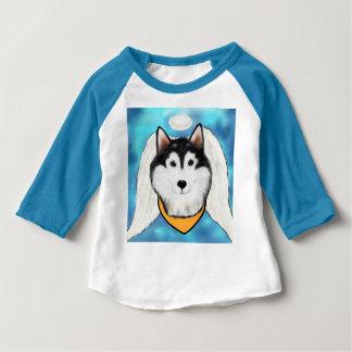 Camiseta Para Bebê Anjo do Malamute do Alasca