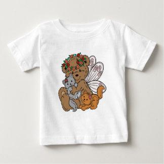 Camiseta Para Bebê Anjo do urso com gatinhos