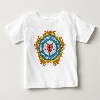 Camiseta Para Bebê Anjos transversais cristãos do deus de Jesus do