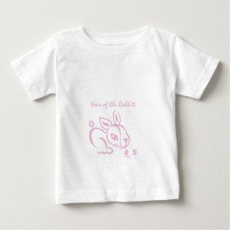 Camiseta Para Bebê Ano cor-de-rosa do coelho - ano novo chinês