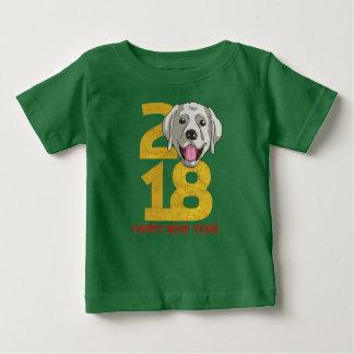 Camiseta Para Bebê Ano de labrador retriever do ano novo do cão 2018