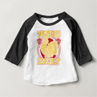 Camiseta Para Bebê Ano do zodíaco do chinês do galo 2017 do fogo
