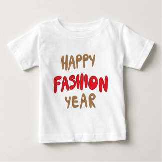 Camiseta Para Bebê Ano feliz da forma