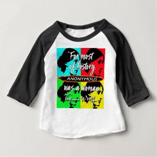 Camiseta Para Bebê Anónimas eram umas citações de Virgínia Woolf do ~
