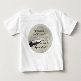 Camiseta Para Bebê Anónimo era um circl das citações de Virgínia