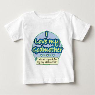 Camiseta Para Bebê Anúncio pago por meu azul da madrinha