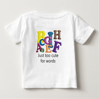 Camiseta Para Bebê Apenas demasiado bonito para palavras