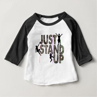 Camiseta Para Bebê Apenas levante-se