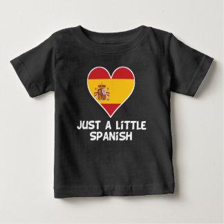 Camiseta Para Bebê Apenas um pouco espanhol