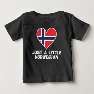 Camiseta Para Bebê Apenas um pouco norueguês