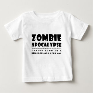 Camiseta Para Bebê Apocalipse do zombi