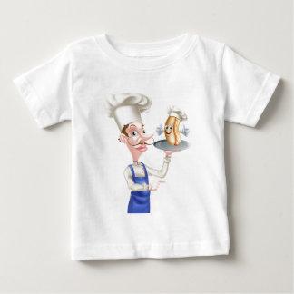 Camiseta Para Bebê Apontar do cozinheiro chefe dos desenhos animados