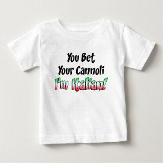 Camiseta Para Bebê Aposte seu italiano de Cannoli