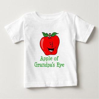 Camiseta Para Bebê Apple de desenhos animados bonitos do olho do vovô
