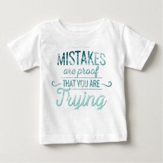 Camiseta Para Bebê Aprenda das citações inspiradores da tipografia