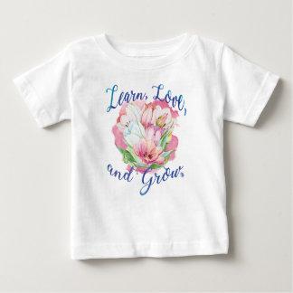 Camiseta Para Bebê aprenda que o riso cresce flores bonitas, flores