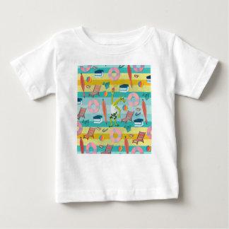 Camiseta Para Bebê Apronte para o verão do unicórnio