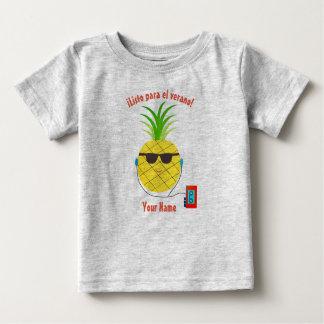 """Camiseta Para Bebê """"Apronte para t-shirt espanhol do verão"""" com"""