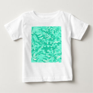 Camiseta Para Bebê Aqua abstrato do pop art da folha
