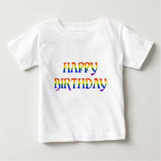 Camiseta Para Bebê Arco-íris do feliz aniversario