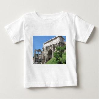 Camiseta Para Bebê Arco romano do fórum de Titus - Roma, Italia