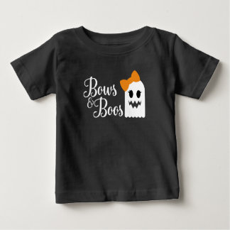 Camiseta Para Bebê Arcos e T do Dia das Bruxas das vaias para miúdos