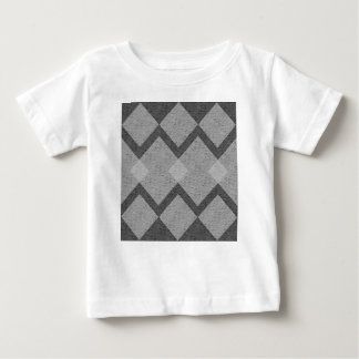 Camiseta Para Bebê argyle cinzento