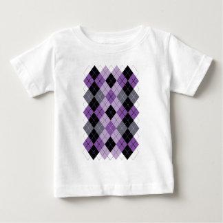 Camiseta Para Bebê Argyle roxo