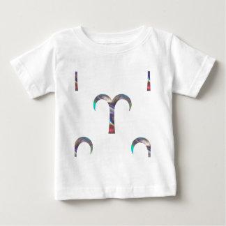 Camiseta Para Bebê Aries do holograma