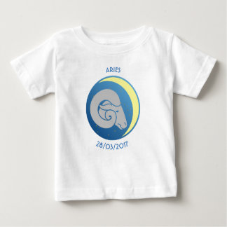 Camiseta Para Bebê Aries do t-shirt do bebê do sinal da estrela