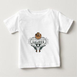 Camiseta Para Bebê armas do vaqueiro do vintage do bar