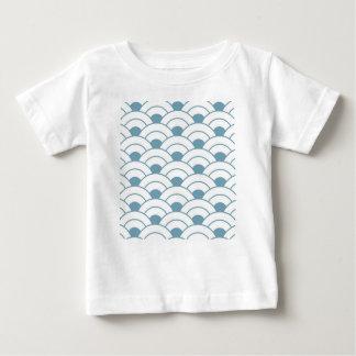 Camiseta Para Bebê Art deco, cerceta, branco, vintage, teste padrão