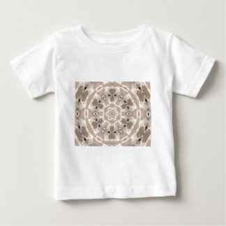 Camiseta Para Bebê arte abstracta de creme e bege do lait de au de