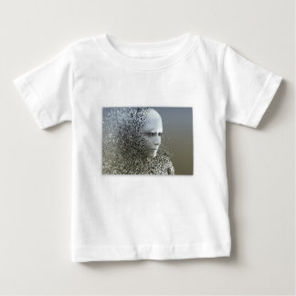 Camiseta Para Bebê Arte abstracta humana