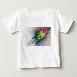 Camiseta Para Bebê Arte abstrata do teste padrão do Fractal em 3d