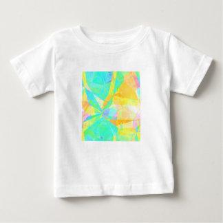 Camiseta Para Bebê Arte artística do fundo do abstrato da pintura do