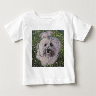 Camiseta Para Bebê Arte bonita do cão de Havanese