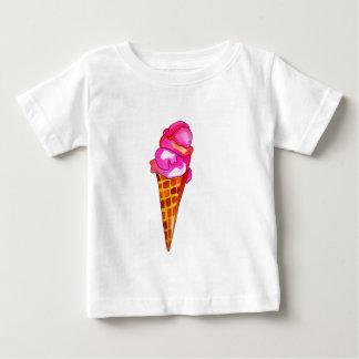 Camiseta Para Bebê arte bonito da comida do gelato do gelado